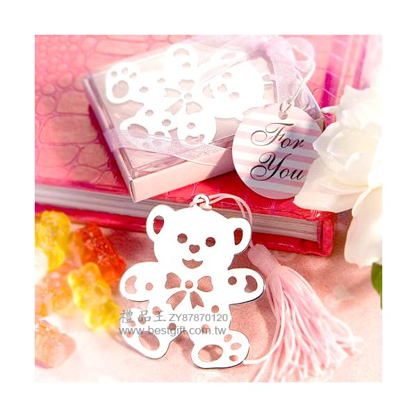 粉色小熊書簽